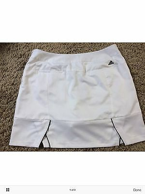 Adidas Climacool White Tennis Skort Skirt New With Tags £39.99 Size 16 XL