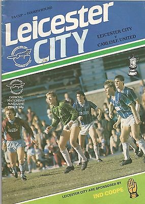Leicester City v Carlisle United, 26 January 1985, FA Cup, Gary Lineker feature