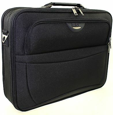 "17.5"" Widescreen Laptop Notebook Carry Case Briefcase Shoulder strap Bag Black"