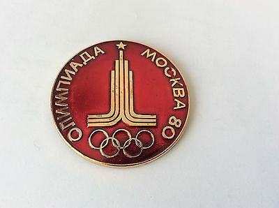Soviet Russian  Pin Badge THE CAPITAL MOSCOW OF OLIMPIC GAMES 1980