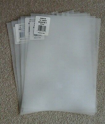 6 sheets of 14 count plastic mesh canvas