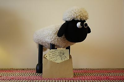 Shaun the Sheep - Wallace and Gromet - Signed Nick Park Autograph - Foot Stool