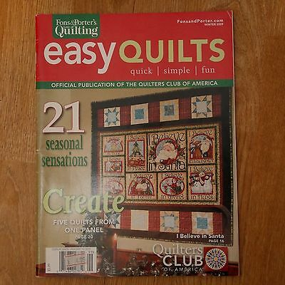 Patchwork & Quilting : Fons & Porter's Love of Quilting Easy Quilts Winter 2009