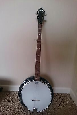 5 String Boston Banjo With Beginners Guide And Cd