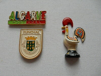 One Selected Metal Souvenir Fridge Magnet from Portugal