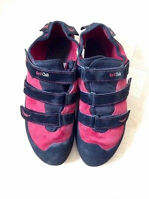 Red Chili Spirit VCR Velcro Climbing Shoes - Mens Size 10