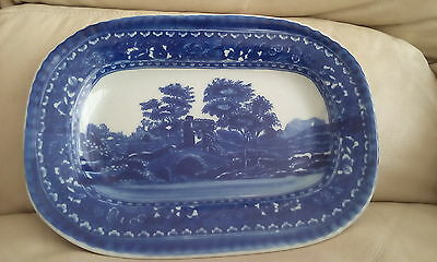 VICTORIA WARE IRONSTONE DISPLAY   PLATE blue and white plate