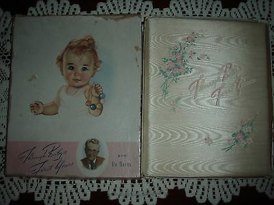 Vtg THROUGH BABYS FIRST YEARS KEEPSAKE RECORD BOOK DR DAFOE DIONNE QUINTS