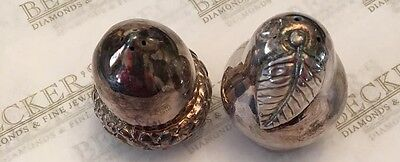 Pair of Tiffany & Co Sterling Silver Salt & Pepper Shakers Acorn & Pear