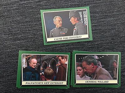 Star Wars Rogue One Mission Briefing Mint Lot Of 18 Green Parallels