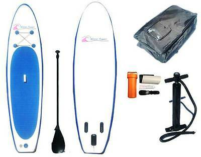 WavePower Inflatable SUP - All-Around Stand Up Paddle Board + Accessories