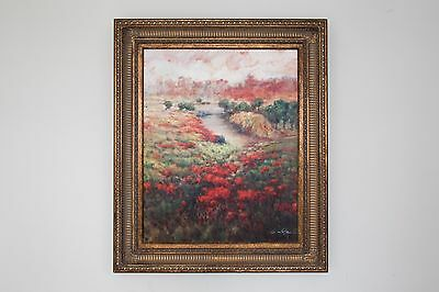 Oil painting in a traditional frame