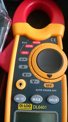 Di-Log DL6401 Digital & Multifunction 30mm Clamp Meter - AC/DC, Ohm, Volt, Diode