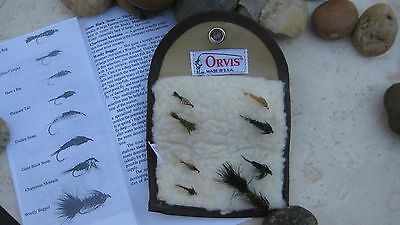 Orvis Vintage Weighted Nymph Selection and Fly Wallet with Instructions
