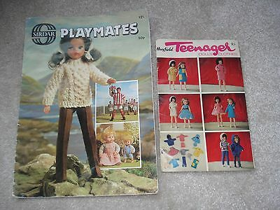 Knitting Patterns for Vintage Sindy Clothes & Teenage Dolls Tiny Tears