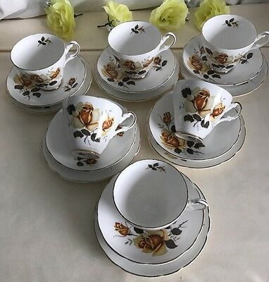 Fine Bone China Made In England 6 Trios Never Been Used