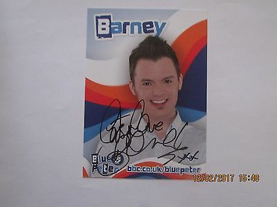 Barney Harewood (Blue Peter) hand signed Cast Card,