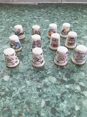 Set Of 12 Royal Dalton Brambly Hedge Thimbles