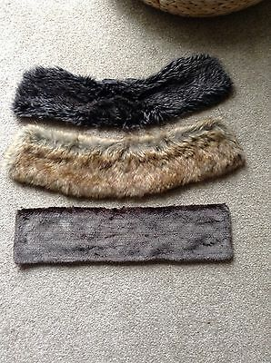 Ladies Faux Fur Collars  X 3  Different Shades Of Brown