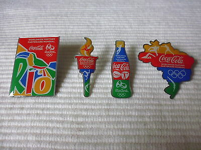 4 Coca Cola Olympia RIO 2016 Pins Limited Edtion