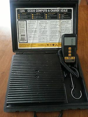 CPS CC220 - Compute A Charge Scale - 220LB Refrigerant Scale