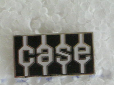 Case Tractor  Logo Pin - Babge Size 3/4 In. Hard Fired Porcelain With Tack Pin