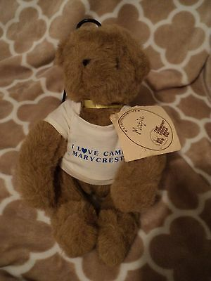 """Vintage 1984 Vermont Teddy Bear Tan Lt. Brown 12"""" Jointed plush with Tag """"Maple"""""""