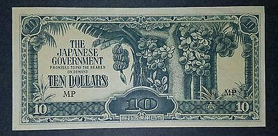 The Japanese Government-$10-Wwii Banknote- Uncirculated-Very Nice Condition