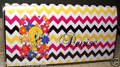 Personalized TWEETY CHEVRON PINK Checkbook Cover GIFT IDEAS! Giftsformypurse