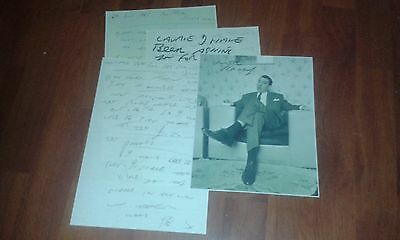 Ronnie Kray Prison Letters & Large Signed Picture. The Kray Twins. Legend. Crime