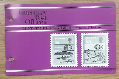 Mint Stamps: Guernsey, Seventy- Fifth Anniversary Of  Scouting: 1982, Mnh