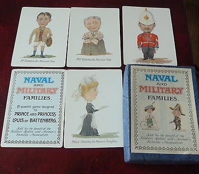 Naval & Military Families playing cards