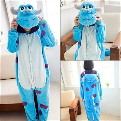 Adult Kids Pajamas Kigurumi Cosplay Costume Animal Onesie Sleepwear Sulley