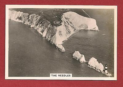 The NEEDLES LIGHTHOUSE Isle of Wight from the air 1939 original card