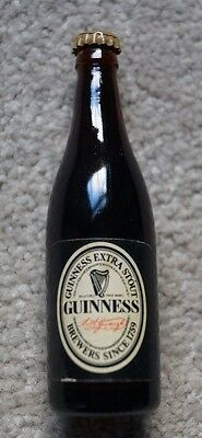 Vintage Miniature Unused Guinness Extra Stout Bottle - With Contents
