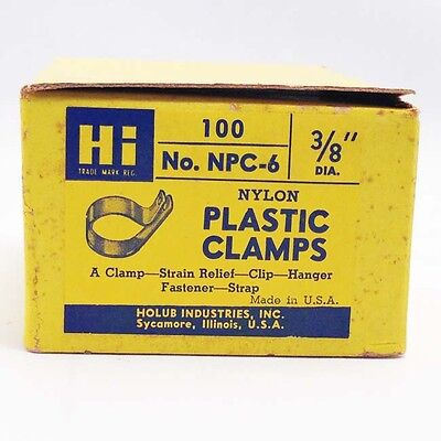 3/8 plastic clamp with screw hole fastener 100 piece box NPC-6 cable anchors