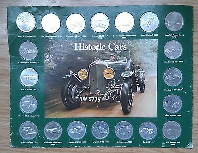 SHELL COIN SET: HISTORIC CARS, COMPLETE: 1970's