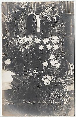 ST GEORGES CHURCH - 1911 Harvest Festival by A M Atkinson ?  Real Photo postcard