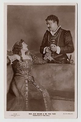 POSTCARD - Julia Neilson & Fred Terry, Edwardian stage theatre actress & actor