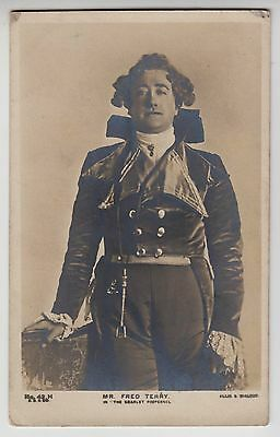 """POSTCARD - Fred Terry, Edwardian actor in costume, """"The Scarlet Pimpernel"""""""