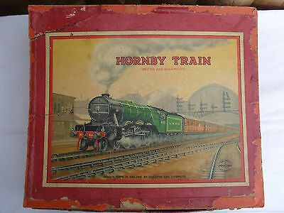Vintage Hornby LMS Track and Coaches Train Box - Meccano Ltd O Gauge Train