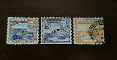 Cyprus Stamp Lot 1930's Antique Cancelled Postage Great Shape