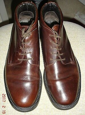 Jones Bootmaker Leather Lace-Up Boots Size 8 (42) Conker Brown