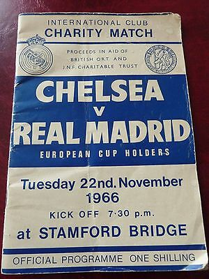 chelsea & Real madrid football programme