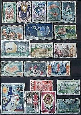 Lot de 20 timbres oblitérés  1962 à 1965 FRANCE
