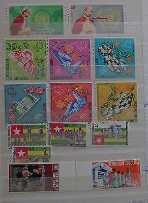 "TOGO 14 timbres neufs 6 timbres ""expo 67"" charnière"