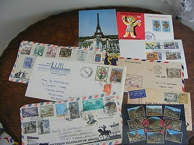 8 ASSORTED ENVELOPES inc AIRMAIL  CANADA 1928, AUSTRALIA TO NZ APRIL 1934 + (12)