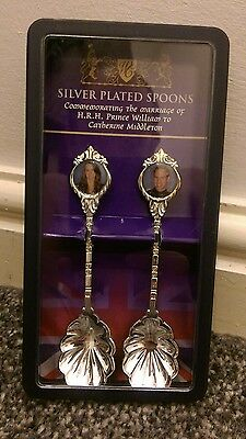 royal wedding Silver plated spoons  William kate
