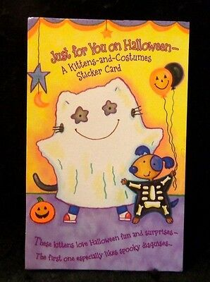 Halloween Card A Kittens and Costumes Sticker Card American Greetings Card
