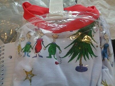 Pottery Barn Kids  The Grinch Christmas tight fit  Pajamas size 10  New